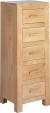 Cuba Cube Oak 5 Drawer Chest