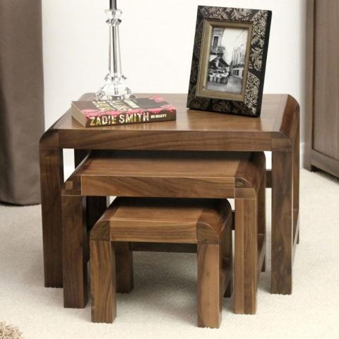 Shiro Walnut Table Nest