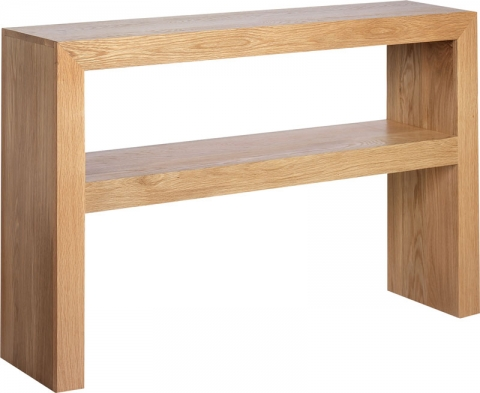 Cuba Cube Oak Console Table