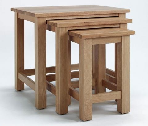 Sherwood Oak Nest of Tables