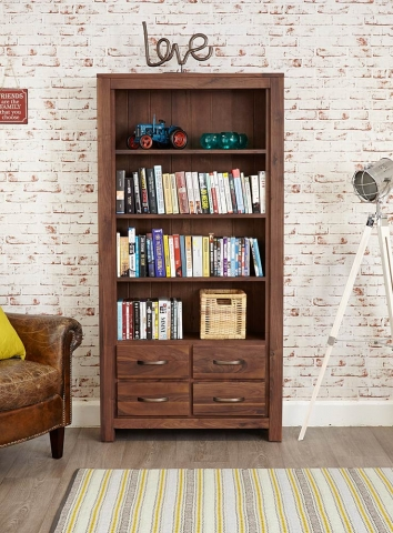 Mayan Walnut Bookcase