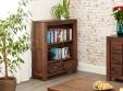 Mayan Low Walnut Bookcase
