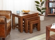 Mayan Walnut Nest of 3 Tables