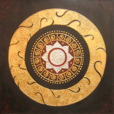 Thai Art - Round Lotus
