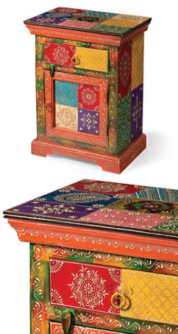 Indian Painted Cabinet