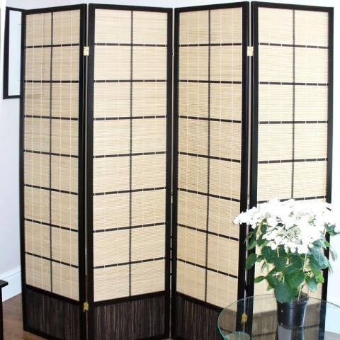 Matsu Black Shoji Screen