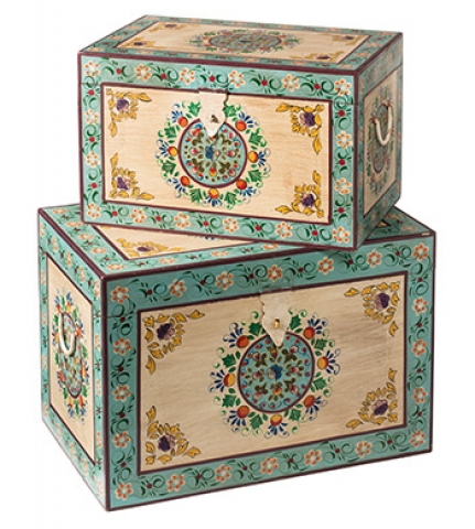 Indian Painted Blanket Boxes