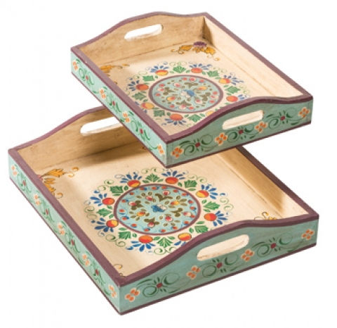 Indian Painted Trays