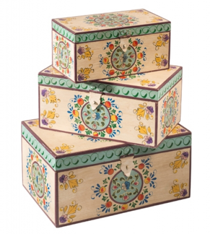 Indian Painted Boxes