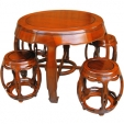 Rosewood Table and Stools