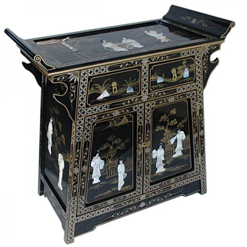 Chinese Black 'A' Line Cabinet