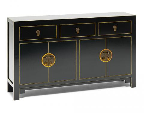 Chinese Qing Black Sideboard