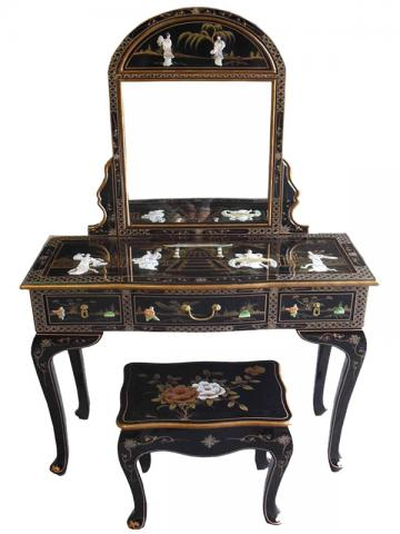 Chinese Black Dressing Table