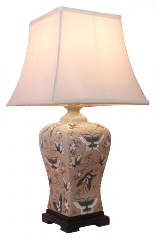 Chinese Table Lamp Pale Green (Pair)