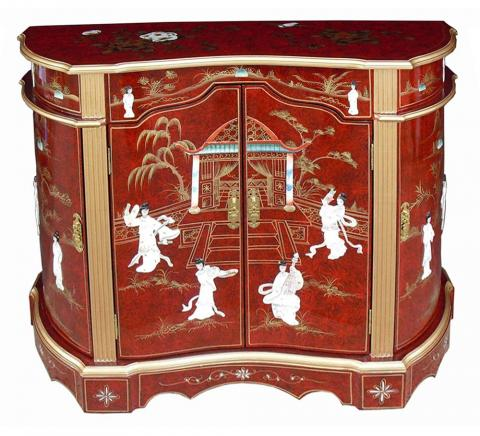 Chinese Red Lacquer Sideboard