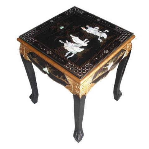 Chinese Black Lamp Table