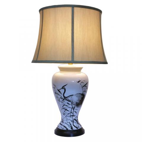 Chinese Table Lamp Ink Style (Pair)