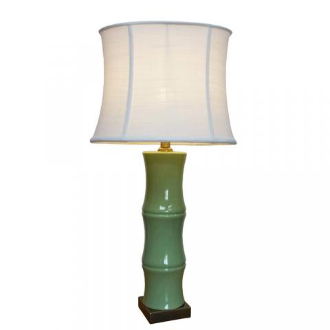Chinese Table Lamp Bamboo (Pair)