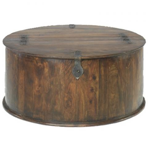 Jali Round Trunk Coffee Table