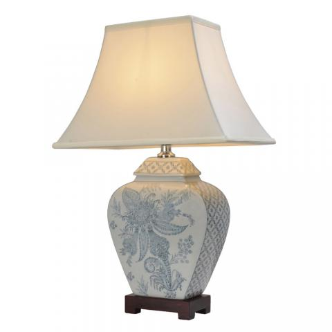 Chinese Table Lamps Flower (Pair)
