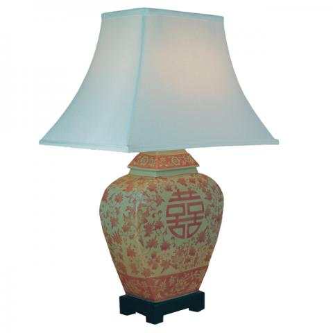 Chinese Table Lamp Happiness (Pair)