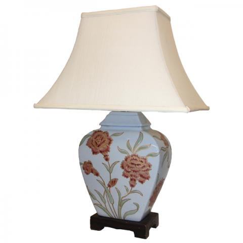 Chinese Table Lamp Duck Egg (Pair)