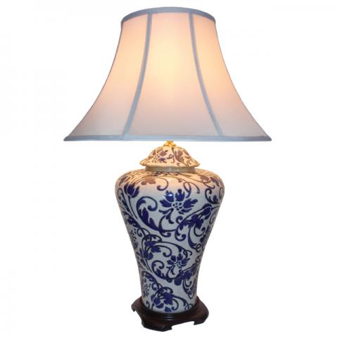 Chinese Table Lamp Vine (Pair)