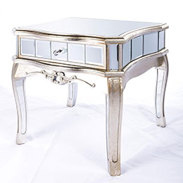 Annabelle French Mirrored side table