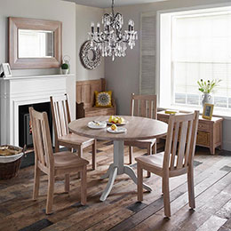 Chalk Grey Oak dining roomset