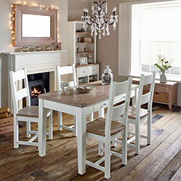 Chalk White Oak dining roomset