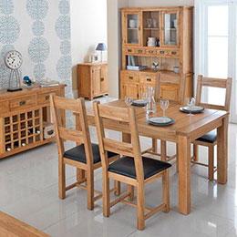 Hardwood dining room furniture