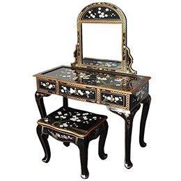 Chinese Cherry Blossom Mother of Pearl Furniture