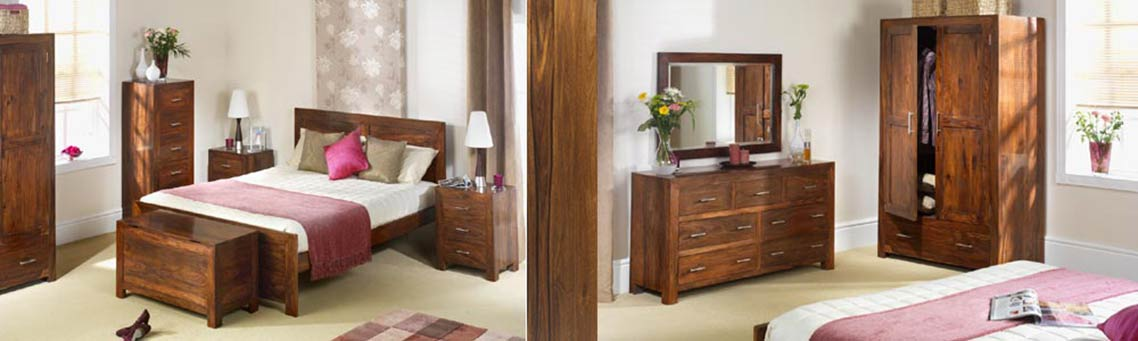 Cuba Sheesham Bedroom Furniture