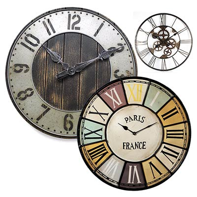 Industrial Style Clocks