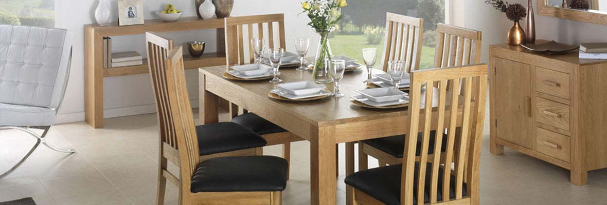 Cuba Cube Oak Dining Room Furniture