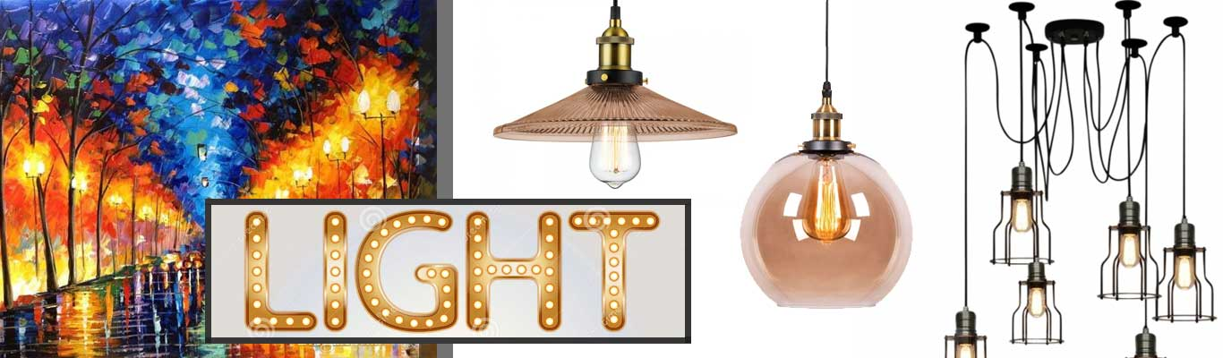 Industrial style lighting examples